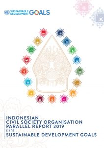 Book Cover: Indonesian CSO Parallel Report 2019 on SDG's
